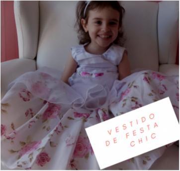 Vestido de Festa Luxo tam 3 anosNovo!! - 3 anos - Confecção Exclusiva