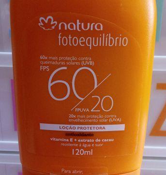 NOVO - Natura Fotoequilibrio FPS 60 - Protetor Solar - Adulto e Infantil - Sem faixa etaria - Natura