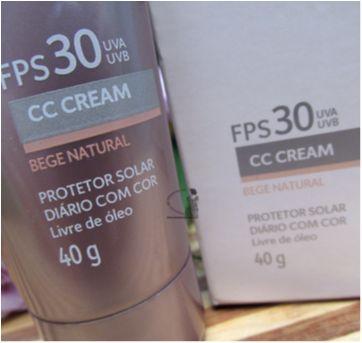 NOVO - Cc Cream Neo Protetor Solar Fps 30 - 40g - EUDORA (Para a Mamãe)!! - Sem faixa etaria - Eudora