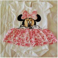 Body Vestido Minnie tam 9 a 12 meses Disney!! - 9 a 12 meses - C&A