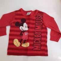 Blusa bebê de manga comprida - 6 meses - Disney baby