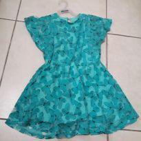 Vestido verde com borboletas - 4 anos - Angerô