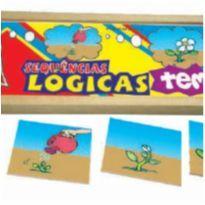 Sequência Lógica TEMPO - Brinquedo Educativo Escolar -  - Não informada