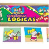 Sequência Lógica - Dia de Festa - Brinquedo Educativo Escolar -  - Não informada