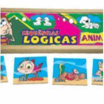 Sequência Lógica ANIMAIS - jogo educativo escolar -  - Não informada