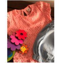 CONJUNTO BEBÊ FEMININO GG, G e M -Cor flamingo lindo demais! - 3 a 6 meses - Não informada