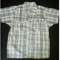 Camisa Tigor Xadrez manga curta - 2 anos - Tigor T.  Tigre