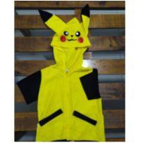 Capa/Camisa Pikachu Infantil Usada - 4 anos - Não informada