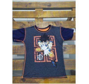 Camiseta Dupla Face Goku - 8 anos - Piticas