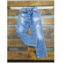 calça jeans zara com aplicações - 5 anos - Zara
