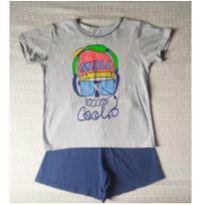 Pijama em malha - 10 anos - Não informada