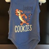 BODY REGATA DO TIGRÃO - 9 a 12 meses - Disney baby
