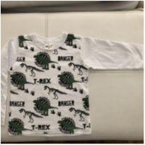 Camiseta Dino Manga Longa - 18 a 24 meses - Kidstok
