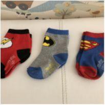 Meias de Super Heróis - 6 a 9 meses - TM & DC COMICS