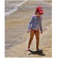 Blusa e calcinha  com proteção UV da Náutica - 6 anos - Nautica