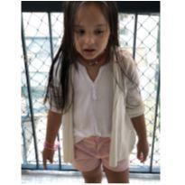Cardigan Verão  cor offwhite - 6 anos - Zara