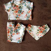 Conjunto Floral - 3 a 6 meses - Up Baby