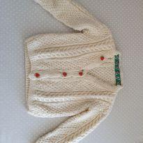 Casaquinho tricô feito a mão - 1 ano - Não informada
