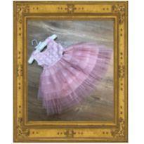 Vestido de Festa rosa - 2 anos - Plinc Ploc