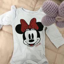 Body manga comprida purpurina - Recém Nascido - Disney