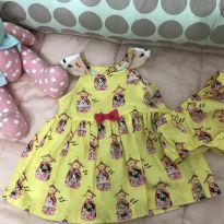 Vestido amarelo cachorrinhos - 0 a 3 meses - Alphabeto
