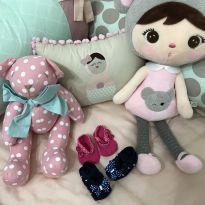 Meias sapatilhas rosa e marinho - 13 - sem etiqueta
