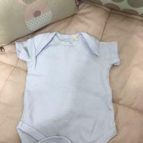 Body liso branco manga curta - Recém Nascido - Sem marca