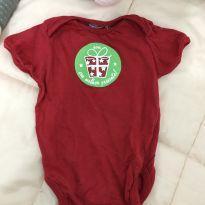 Body vermelho estampa Natal - Recém Nascido - Sem marca
