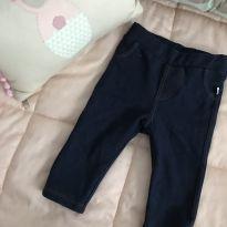 Calça estilo jeans com strech - 3 a 6 meses - Teddy Boom