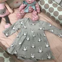 Vestido/ body coelhinhos lindo !!!!! - 3 a 6 meses - BB Básico