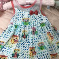 Vestido corujinha - 3 a 6 meses - Alphabeto