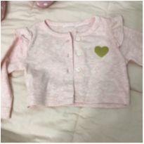 Casaquinho carters rosa e coração - 3 meses - Carters - Sem etiqueta