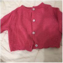 Casaquinho linha rosa com lacinhos - 0 a 3 meses - Teddy Boom
