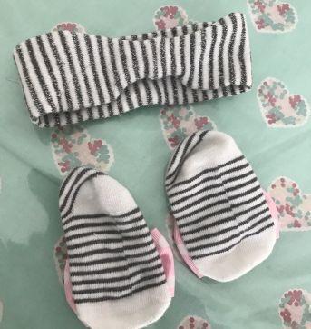 Kit faixa com lacinho e sapatinho de meia - Sem faixa etaria - Puket