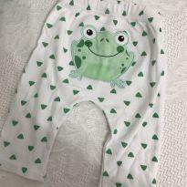 Calça estampa sapinho - 0 a 3 meses - Baby Club Original e Baby clube