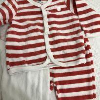 Kit 2 calças e casaquinho fleece - Recém Nascido - Baby Club
