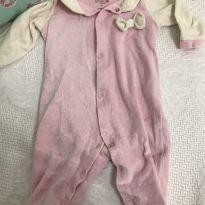 Macacão fleece lacinho - 3 meses - Kiko e Kiko baby