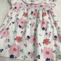Vestido malha estampado - 3 a 6 meses - Teddy Boom