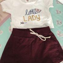 Conjunto body e saia little lady - 6 a 9 meses - Baby Way