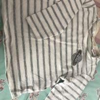 Blusa listrada patch planeta - 3 a 6 meses - Zara