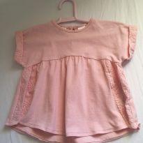 Blusa Bata Rosa - 6 a 9 meses - Zara Baby