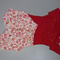Conjunto Baby de 2 pçs Vermelho Tam P - 0 a 3 meses - Fonte de Alegria