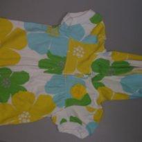 Blusinha com touca amarela floral Tam 18 meses Carter