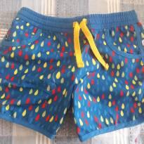 Shorts Azul Chuva tam 4 - 4 anos - Extra