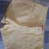 Shorts Amarelo tam 6 - 6 anos - marisa
