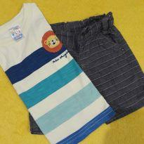 Camiseta Leãozinho e Shorts - 9 meses - Pulla Bulla