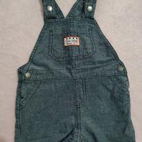 Jardineira Jeans - 12 a 18 meses - Sem marca