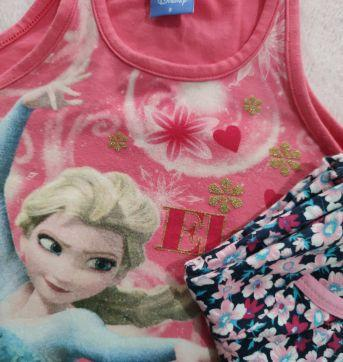 Regata Elsa e Shorts floral - 6 anos - Disney