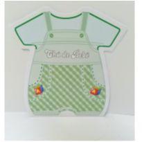 Convite Chá de Bebê Menino-32 UNIDs-Mod 1 -  - Não informada