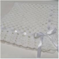 Manta de lã - Branca -  - Artesanal